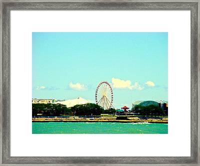 The Promise Of A Ferris Wheel Framed Print