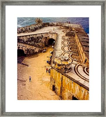 The Promontory Of The Caribbean Framed Print by Sandra Pena de Ortiz