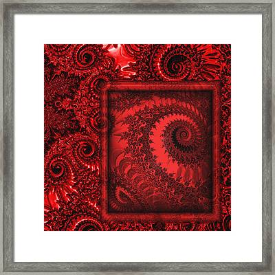 The Proper Victorian In Red  Framed Print by Wendy J St Christopher