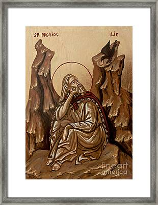 The Prophet Elijah Framed Print by Olimpia - Hinamatsuri Barbu