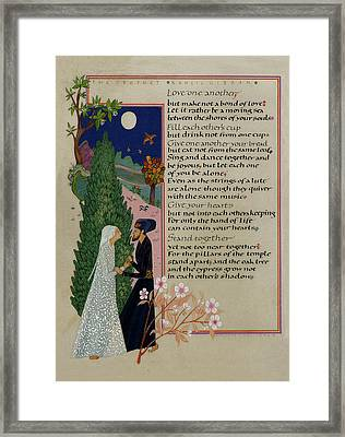 The Prophet - Kahlil Gibran  Framed Print