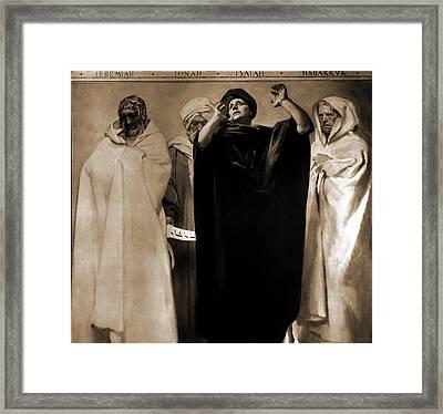 The Prophets, Jeremiah, Jonah, Isaiah, Habakkuk, Jonah Framed Print