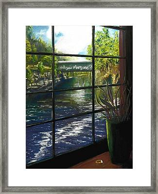 The Proposal Framed Print by Peter Jackson