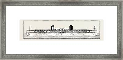 The Proposed Channel Ferry Longitudinal Section Of Ferry Framed Print