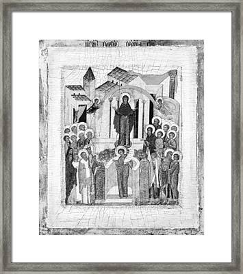The Protection Of The Mother Of God Framed Print