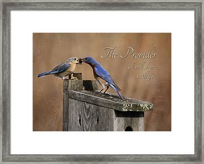 The Provider Framed Print by Lori Deiter