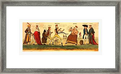 The Prussian Prize-fighter And His Allies Attempting Framed Print by Litz Collection