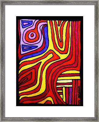 The Psychedelic Musings Of A Squid Framed Print