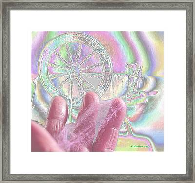 The Psychedelic Spinner Framed Print by Aliceann Carlton