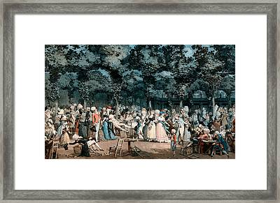 The Public Promenade Framed Print by Philibert-Louis Debucourt