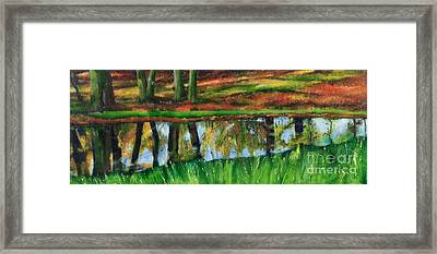 The Puddle At The Edge Of The Woods Framed Print by Beryl Noyce