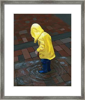 The Puddle Jumper Framed Print by Karyn Robinson