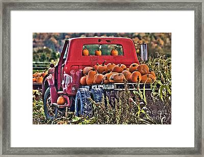 The Pumpkin Hauler Framed Print