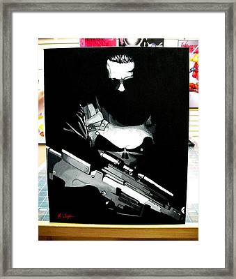 The Punisher Framed Print by Zakk Washington