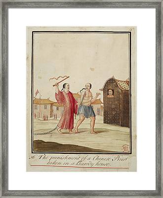 The Punishment Of A Chinese Priest Framed Print