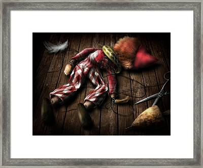 The Puppet... Framed Print