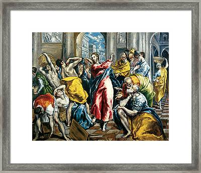 The Purification Of The Temple Framed Print by El Greco
