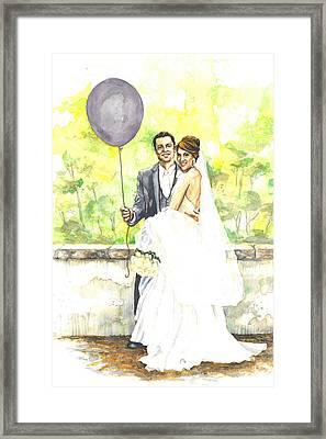 The Purple Balloon Framed Print by Tyler Auman