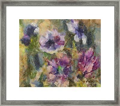 The Purple Bouquet Framed Print