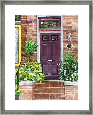 The Purple Door Framed Print by Barbara Jewell