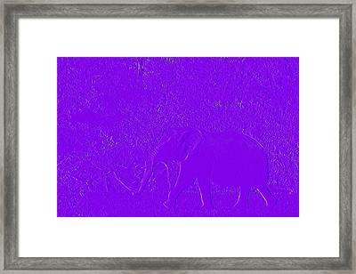 The Purple Elephant Framed Print