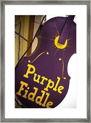 The Purple Fiddle Framed Print