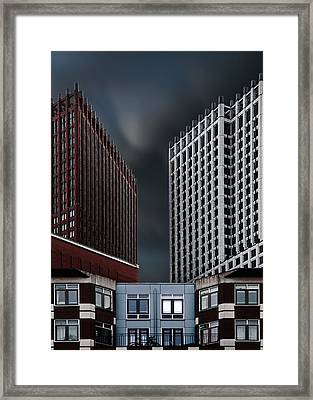 The Purple House Framed Print