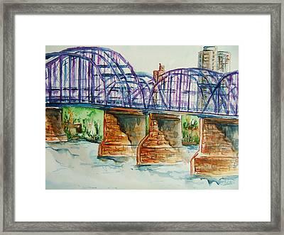 The Purple People Bridge Framed Print