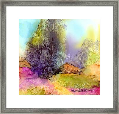 The Purple Tree Framed Print by Karen Mattson
