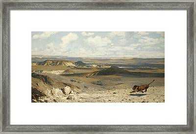 The Pursuit Framed Print by Jean Leon Gerome