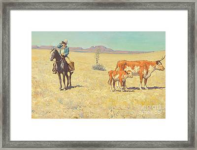 The Puzzled Cowboy Framed Print by Celestial Images
