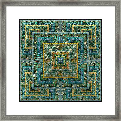 The Pyramid - A Fractal Artifact Framed Print by Manny Lorenzo