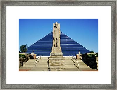 The Pyramid Sports Arena In Memphis, Tn Framed Print