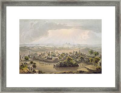 The Pyramids At Cairo, Engraved Framed Print