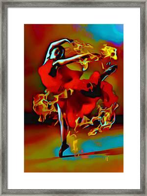 The Pyro Dancer Framed Print by  Fli Art