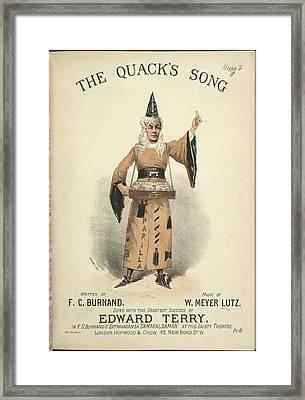 The Quack's Song Framed Print