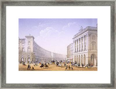 The Quadrant And Regent Street, London Framed Print by Achille-Louis Martinet