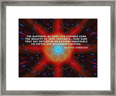 The Quality Of Your Thoughts Framed Print by Mario Carini