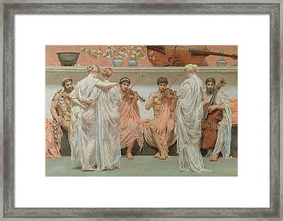 The Quartet A Painters Tribute To The Art Of Music Framed Print