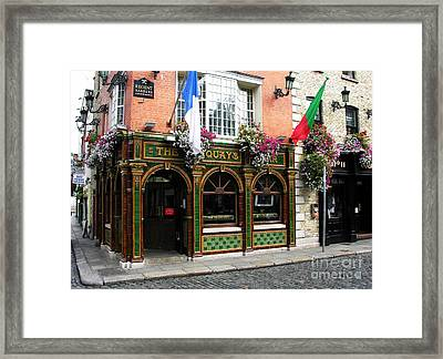 The Quays In Dublin Framed Print