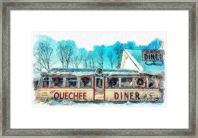 The Quechee Diner Vermont Framed Print