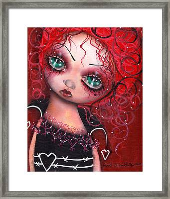 The Queen Framed Print by  Abril Andrade Griffith
