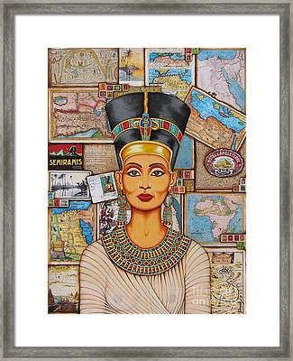 Framed Print featuring the painting The Queen Of Amarna by Joseph Sonday
