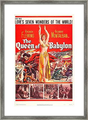 The Queen Of Babylon, Us Poster, Middle Framed Print