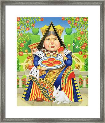 The Queen Of Hearts Framed Print by Frances Broomfield