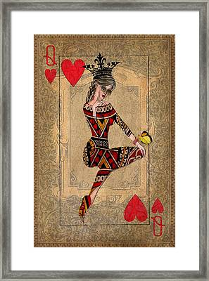 The Queen Of Hearts Framed Print by Terry Fleckney
