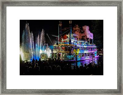 The Mark Twain Disneyland Steamboat  Framed Print