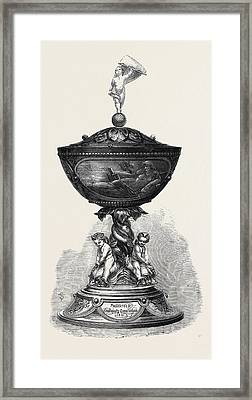 The Queens Cup Won By Mr Framed Print by English School