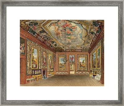 The Queens Drawing Room, Windsor Framed Print by Charles Wild