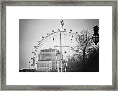 The Queen's Eye Bw Framed Print by Christi Kraft
